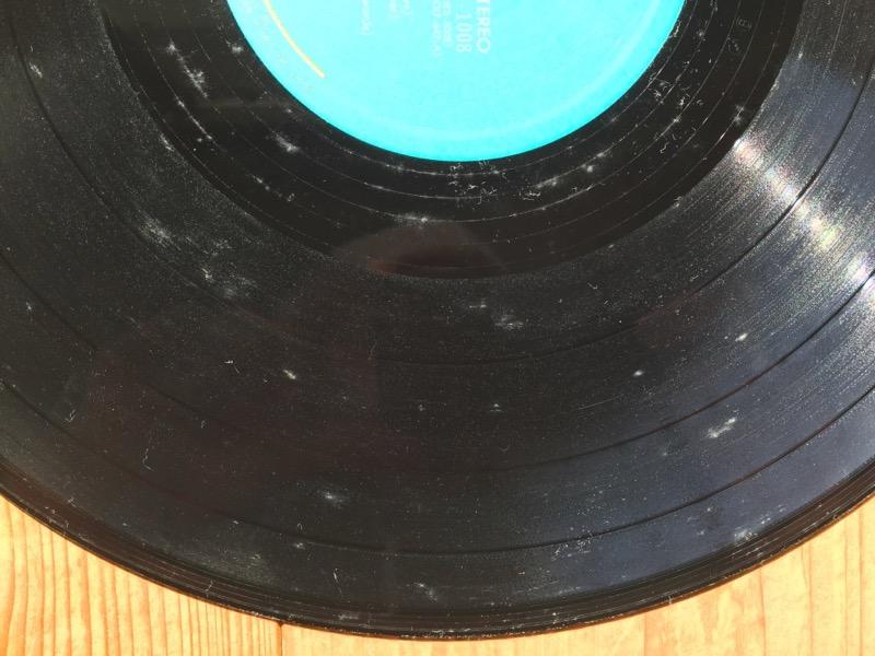 洗う前のカビだらけのレコード
