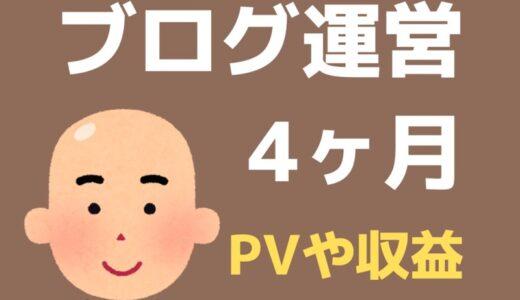 ブログ4ヶ月目のPV・記事数・収益