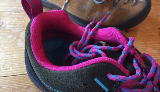 KEEN JASPERの靴紐がほどけないようにする方法